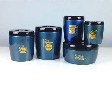 canisters interesting blue kitchen canister sets white