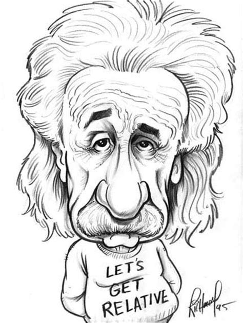 biography sketch of albert einstein toms caricatures and einstein on pinterest