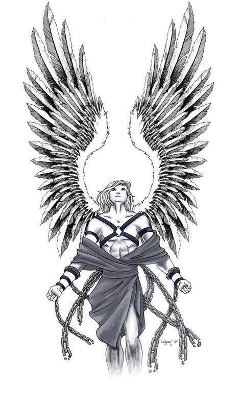 male angel tattoo designs 1 by wynnter89 on deviantart