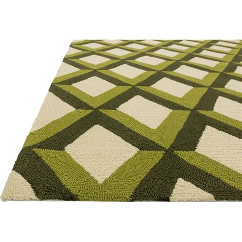 outdoor trellis rug sheela modern forest green trellis outdoor rug 3 6x5 6 kathy kuo home