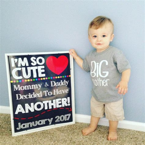 Time To Announce The Big News by 2nd Pregnancy Announcement Pregnancy Chalkboard Sign