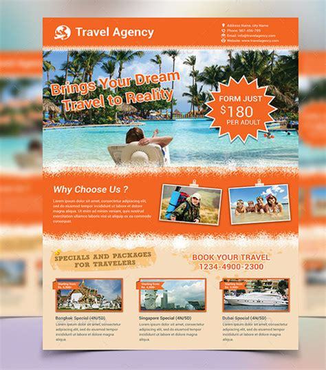 trip flyer templates free travel flyer template 42 free psd ai vector eps