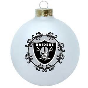 oakland raiders collectible christmas tree ornament
