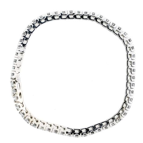 4 carat tennis bracelet 14k white gold boca raton