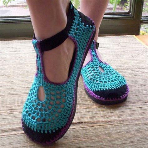 pantuflas hechas a mano zapatos deportivos para damas sandalias tejidas en crochet zapatos chatitas