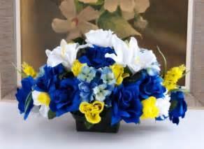 Personalized Wedding Vase Horizon Yellow White Wedding Theme Centerpieces Table