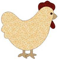 Chicken Template by Baycreek Quilting Templates