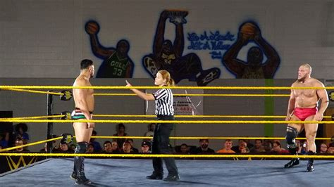 house shows wwe s first full time female referee debuts at nxt house