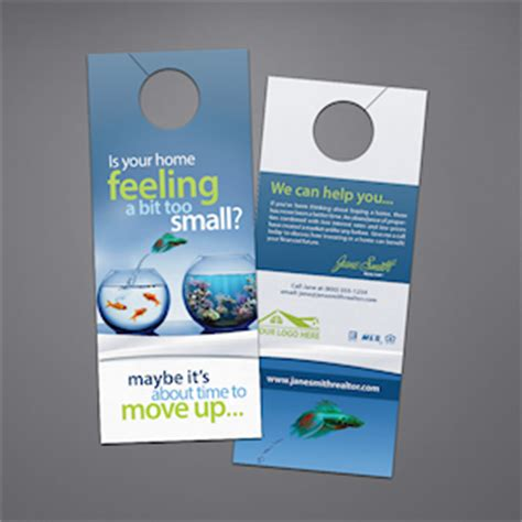 Real Estate Door Hangers Custom Templates For Keller Williams Century 21 Remax Coldwell Real Estate Door Hanger Templates