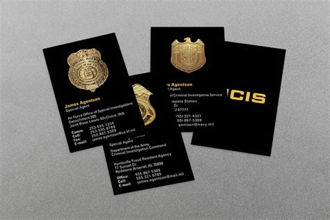 dhs business card template enforcement business cards kraken design