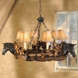 Lone Star Home Decor Horse Head Chandelier