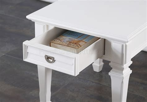acme furniture adalyn coffee table adalyn 80530 3pc coffee table set in white by acme