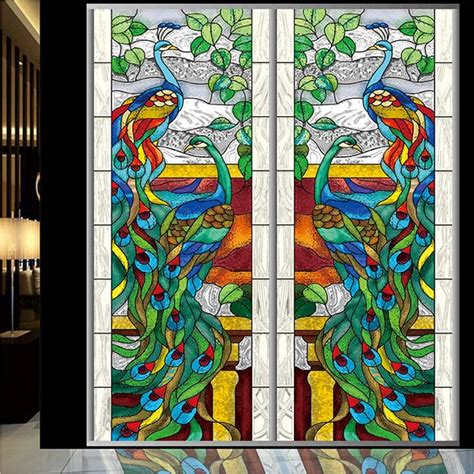 peacock stained glass l stained glass window peacock imgkid com the