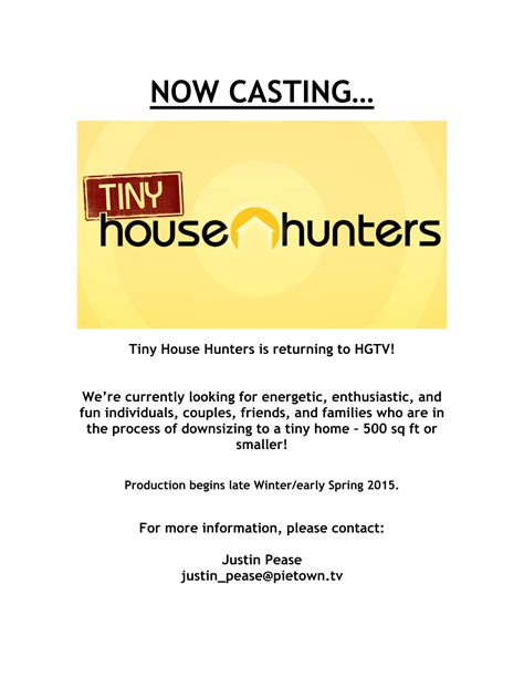 house hunters casting casting call for tiny house hunters micro showcase