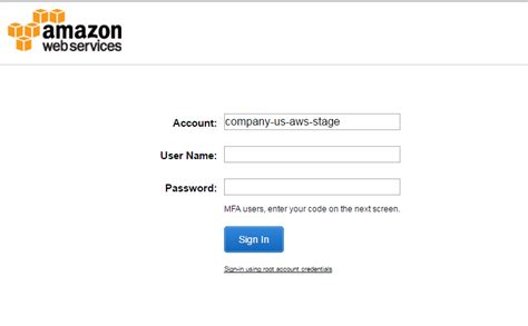 aws console sign in web services custom aws login domain server fault