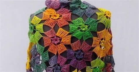 Pashmina Motif Flowers 1 crochet shawls crochet pattern of flowers wrap shawl amazing