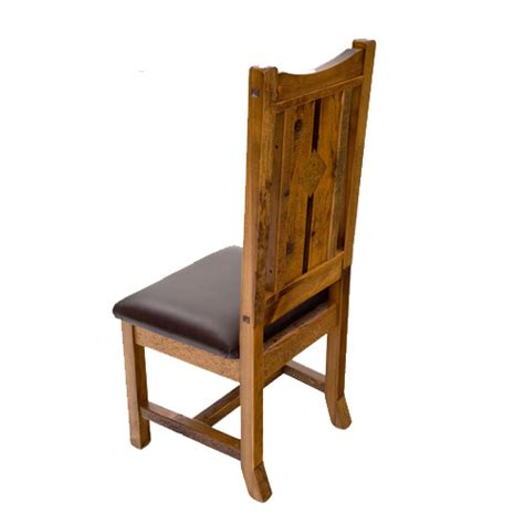 mustang side and rustic barnwood arm chair