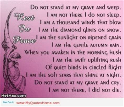 i not died i am in the next room funeral quotes for grandmother quotesgram