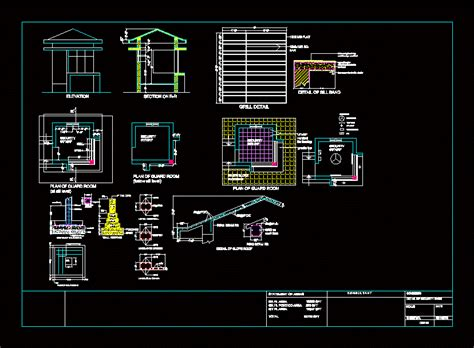 security room dwg detail  autocad designs cad