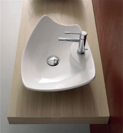 artistic bathroom sinks unique contemporary rectangular white ceramic vessel sink