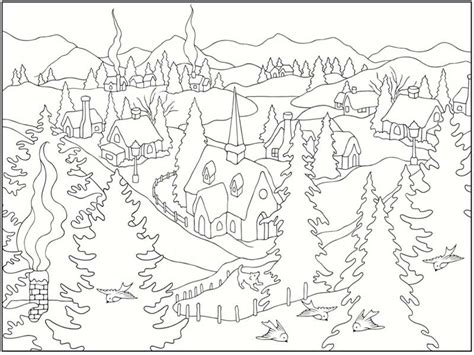free coloring pages winter scenes 5 free winter scenes coloring pages realistic coloring pages