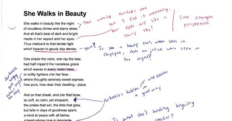 overused themes in literature she walks in beauty essay is she walks in beauty a love