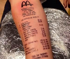 fast food tattoos fast food tattoos