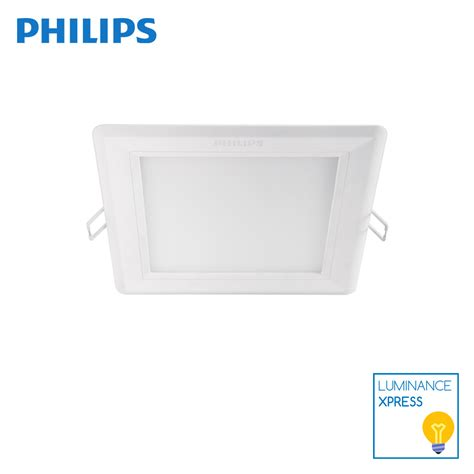 Downlight Philips 5 Inch philips dimmable hadron slim downlight 5 inch square 12w