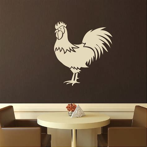 trendy wall designs rooster art decal decor modern home art trendy wall