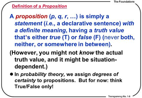 Definition Of A by Chapter 1 The Foundations Ppt