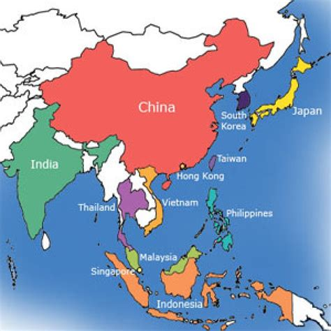 map of asia countries and cities asia cities database with latitude and longitude