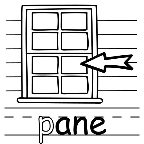 clipart pane clip basic words ane phonics pane color abcteach