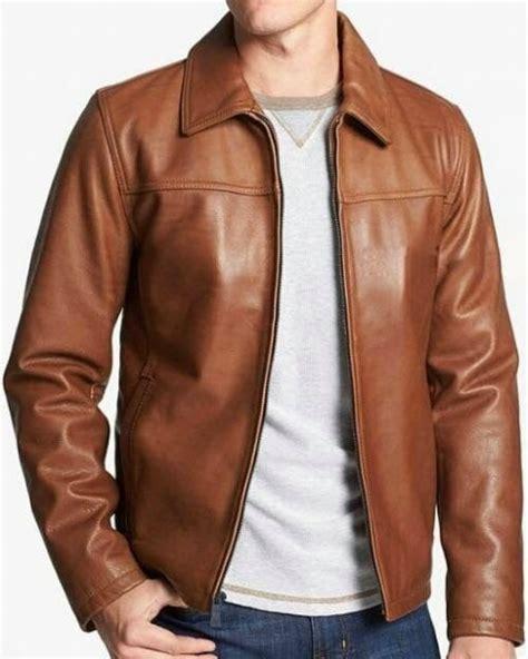 Jaket Motor Kulit Simple Model Coklat Keren Brown T1310 1 jaket kulit pria a 084 adalah jaket kulit semi sapari