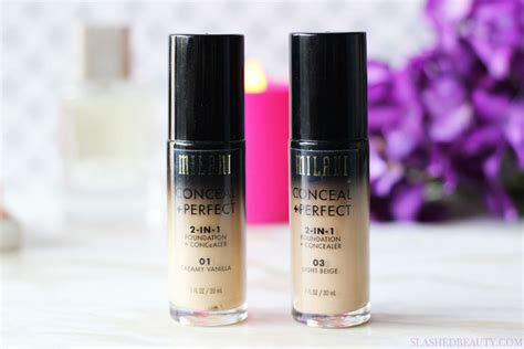 Milani Concealperfect 2 In 1 Foundation review milani conceal 2 in 1 foundation concealer slashed