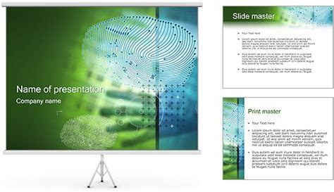 powerpoint templates science free finger print powerpoint template backgrounds id