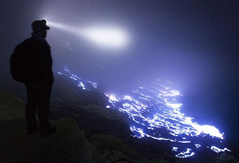 Kawah Ijen   Volcano with glowing blue lava in Indonesia