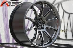 hyper black 18x10 30 rota t2r 5x100 wheels fit jetta golf