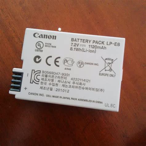 Baterai Kamera Canon 550d jual baterai canon lp e8 eos 550d 600d bekas jual beli laptop bekas kamera bekas di malang