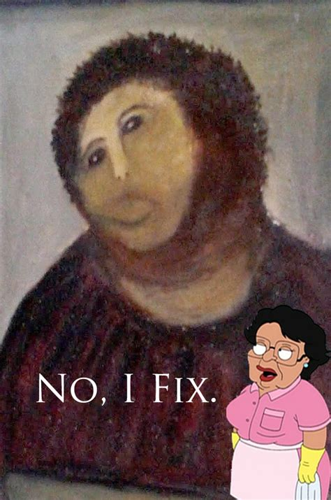 Jesus Painting Restoration Meme - best of the botched ecce homo painting meme smosh