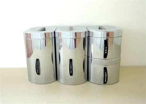 Kitchen Canisters Flour Sugar Kitchen Canisters Chrome Storage For Flour Sugar Coffee