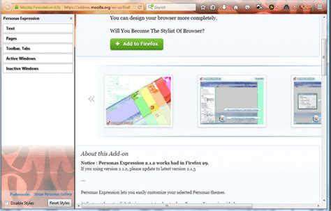 mozilla toolbar themes how to customize personas themes in firefox tip