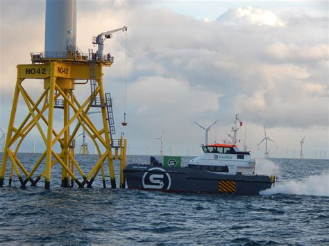 boat landing wind turbine wind farm and crew transfer vessels sure wind marine