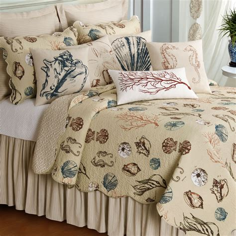 beach themed bedding nautical beach themed bedding for adults on brown hardwood