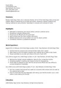 Fargo Teller Sle Resume professional fargo teller templates to showcase your talent myperfectresume