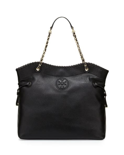 burch marion slouchy drawstring tote bag in black lyst