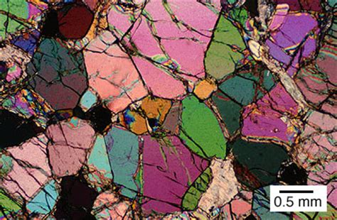 olivine thin section thin section featuring olivine crystals