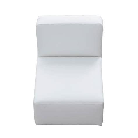 imitation leather sofa imitation leather low sofa in white w 66cm modulo