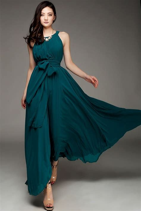 Great Teal Maxi Dress With Shoes Dress For Body