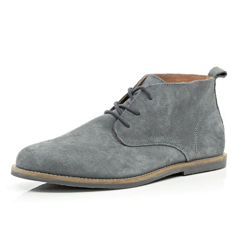 Boots Grey mens gray boots yu boots