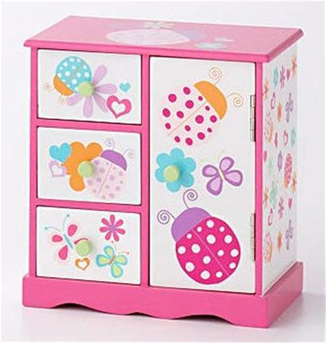 100 recycled jewelry gift boxes in pretty bright colors pretty painted wooden jewelry box ladybug design